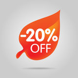 Special offer sale orange tag isolated vector illustration. Royalty Free Stock Images