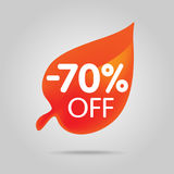 Special offer sale orange tag isolated vector illustration. Stock Photo