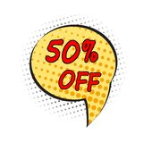 Special offer sale pop art comic style dot tag vector illustrati. On. Discount offer price label, symbol for advertising campaign in retail, shopping sale promo Royalty Free Stock Photos