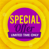 Special Offer Sale Poster, Banner or Flyer. Stock Image