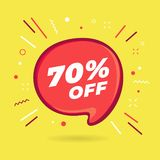Special offer sale red bubble. 70% off discount sticker.4. Special offer sale red bubble. Discount offer price label, symbol for advertising campaign in retail stock illustration