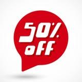 Special offer sale red tag. 50 percent Off discount sticker template. Special offer sale red tag. Vector Illustration stock illustration
