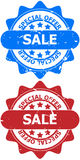 Special offer sale signs Royalty Free Stock Images