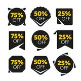 Special offer sale tag discount proposition set Royalty Free Stock Photography