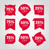 Special offer sale tag discount proposition set Royalty Free Stock Photo