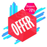 Special offer sale tag discount symbol, mega sale banner retail offer design sticker. Black friday sale banner. Stock Photo