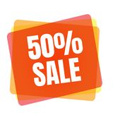 Special offer sale tag. Discount symbol retail.. Special offer sale tag. 50 percent discount symbol retail. Colorful sticker sign price isolated from white Stock Photo