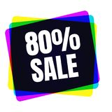 Special offer sale tag. Discount symbol retail.. Special offer sale tag. 80 percent discount symbol retail. Colorful sticker sign price isolated from white Stock Photo