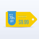 Special offer sale tag discount symbol retail sticker sign price. VECTOR. Royalty Free Stock Photography