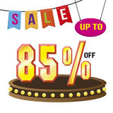 Special 85% offer sale tag isolated vector illustration. Stock Image