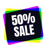 Special offer sale tag. Discount symbol retail. Colorful sticker sign price isolated from white background. Label in. Special offer sale tag. 50 percent discount Royalty Free Stock Photos