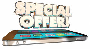 Special Offer Save Money Cell Smart Phone Deal Best Plan Stock Photo