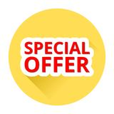 Special offer with shadow. Special offer with long shadow Royalty Free Stock Photo