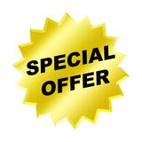 Special Offer Sign. Yellow special offer sign - web button - internet design Royalty Free Stock Images