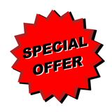 Special Offer Sign. Red special offer sign - web button - internet design Stock Photography