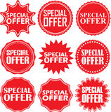 Special offer signs set, special offer sticker set, vector illus Stock Photo