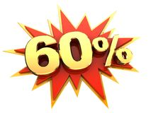 Special offer sixty percent Royalty Free Stock Photos
