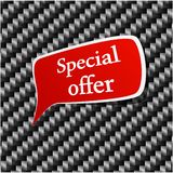 Special offer Speech announcement. Stock Images