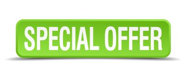 special offer button stock illustration