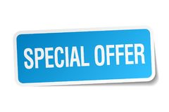 Special offer sticker. Special offer square sticker isolated on white background. special offer vector illustration