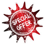 Special offer stamp. Abstract grunge special offer stamp on a white background Royalty Free Stock Images