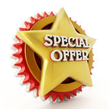 Special offer star  on white background Stock Image