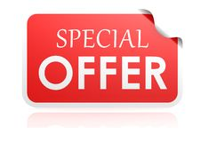 Special offer sticker Stock Image
