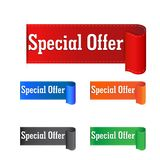 Special offer sticker. Label vector illustration on white backgr Stock Photography