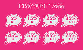 Special offer sticker set. pink discount tag vector illustration. price label. sale promo marketing. ads offer Royalty Free Stock Image