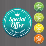 Special Offer Sticker and Tag Vintage and Gradient.  Royalty Free Stock Image