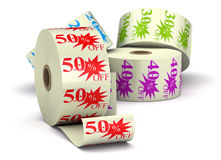 Special offer stickers royalty free illustration