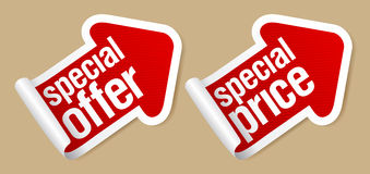 Special offer stickers. Royalty Free Stock Images