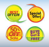 Special offer stickers Stock Photo