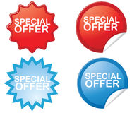 Special offer stickers. Isolated on white background Stock Photos