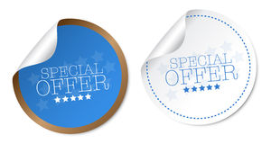 Special offer stickers. With soft shadow Royalty Free Stock Photo