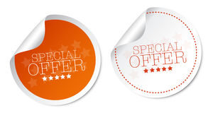 Special offer stickers Royalty Free Stock Image