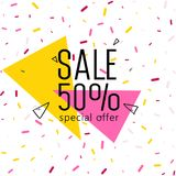 Big Sale Weekend, special offer banner up to 50 off. Vector illustration. Stock Photography