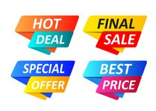 Special offer tag collection, set of banner element icons. Vector Illustration. EPS10 Royalty Free Stock Photo