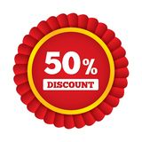 Special offer tag. Discount sticker. Icon for sale. 50 percent discount. Black friday. Vector illustration Royalty Free Stock Image
