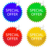 Special offer tags Stock Images