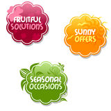 Special offer tags royalty free illustration