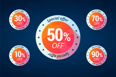 Special offer tags for shop sales. Stock Photography