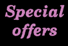 Special offer text. With shuggy effect Royalty Free Stock Photography