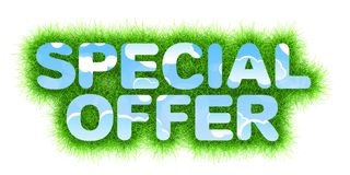 Special Offer title Royalty Free Stock Photography