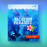 Special offer for a Vacation Paradise cruise Stock Images