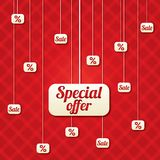 Special offer vector poster with percent discount Stock Images
