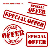 Special Offer Vector Stamps Set. Set of spercial offer vector stamps. Elements isolated and colors editable Stock Photography