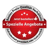 Special offer- web button designed for the German retail market. Web button designed for the German retail market. Text translation: Circular text: Best price Stock Photos