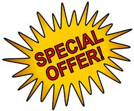 Special Offer Web Icon Gold Royalty Free Stock Photos