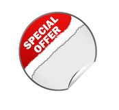 Special offer web sticker illustration Royalty Free Stock Photography